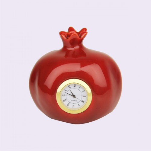 Clock Ceramic Pomegrantes
