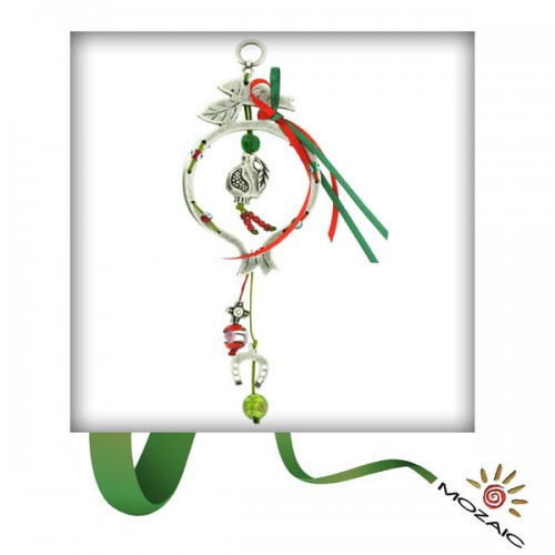 Green Beaded Wall Charms