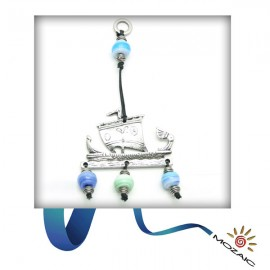 Blue Beaded Wall Charms