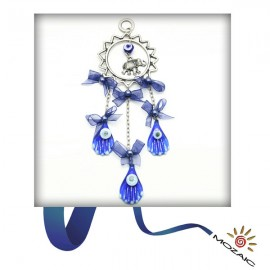 Blue Evil Beaded Wall Charms