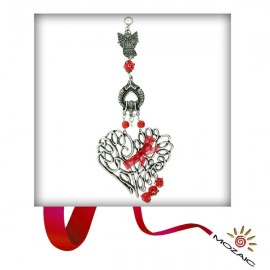 Red Beaded Heart Wall Charms