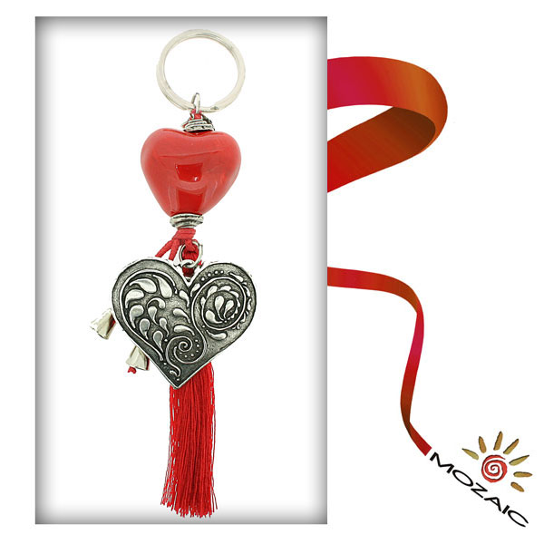 Heart Ceramic Keychain
