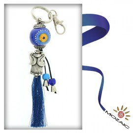 Evil Eye Ceramic Keychain