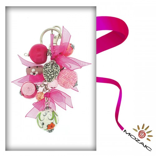 Bag Ornament Beads In Pink Tones