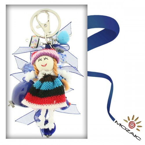 Bag Ornament with Colorfull Dolls