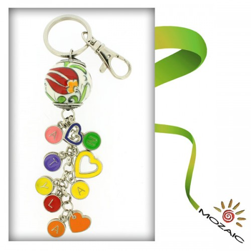 Millenium Ceramic Keychain with Letters