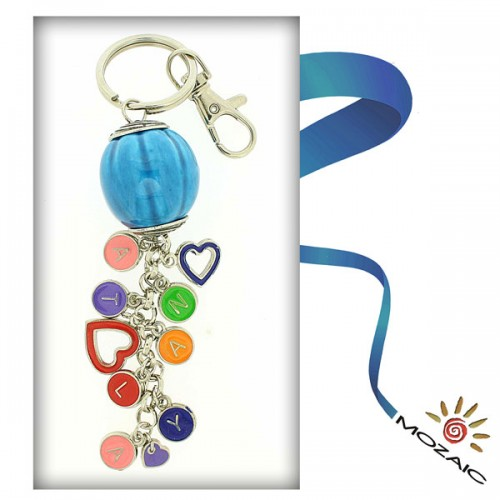 Meridian Ceramic Keychain with Letters